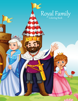 Royal Family Coloring Book 1