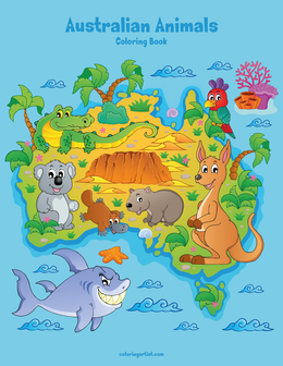 Australian Animals Coloring Book 1