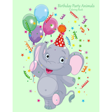Birthday Party Animals Coloring Book 1