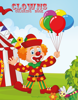Clowns Coloring Book 2