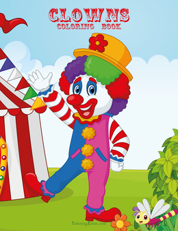 Clowns Coloring Book 1 & 2