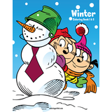 Winter Coloring Book 1 & 2