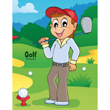 Golf Coloring Book 1