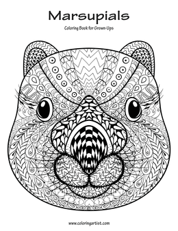Marsupials Coloring Book for Grown-Ups 1