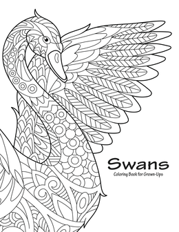 Swans Coloring Book for Grown-Ups 1
