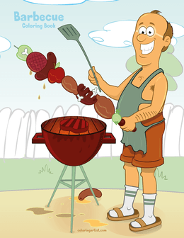 Barbecue Coloring Book 1