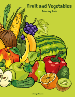 Fruit and Vegetables Coloring Book 1