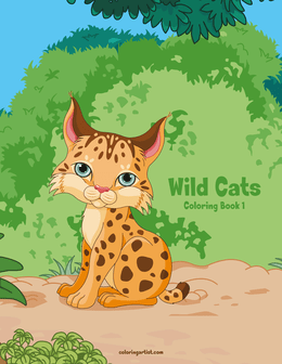 Wild Cats Coloring Book 1
