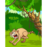 Wild Cats Coloring Book 2