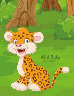 Wild Cats Coloring Book 1 & 2