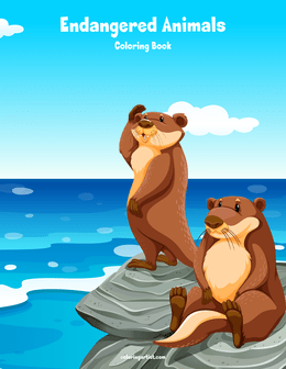 Endangered Animals Coloring Book 1