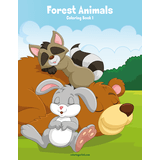 Forest Animals Coloring Book 1