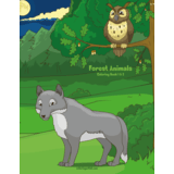 Forest Animals Coloring Book 1 & 2