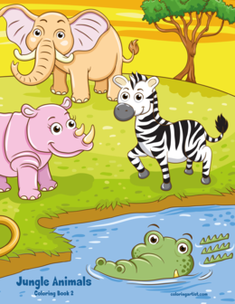 Jungle Animals Coloring Book 2