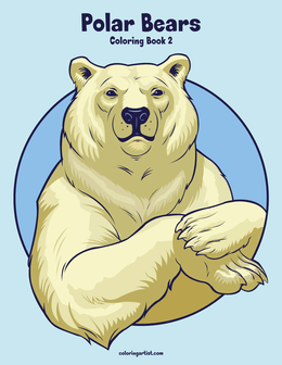 Polar Bears Coloring Book 2
