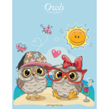 Owls Coloring Book 2