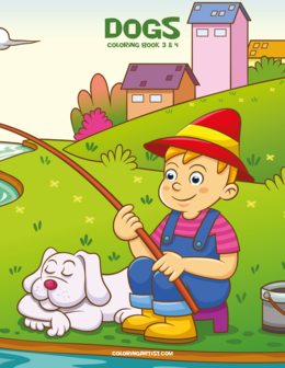 Dogs Coloring Book 3 & 4