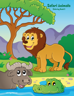 Safari Animals Coloring Book 2