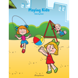 Playing Kids Coloring Book 1