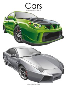 Cars Coloring Book 1 & 2