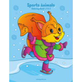 Sports Animals Coloring Book 1, 2 & 3
