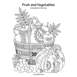 Fruit and Vegetables Coloring Book for Grown-Ups 1