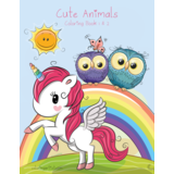 Cute Animals Coloring Book 1 & 2