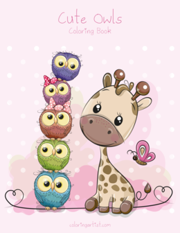 Cute Owls Coloring Book 1