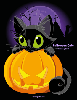 Halloween Cats Coloring Book 1