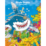 Pirate Sharks Coloring Book 1