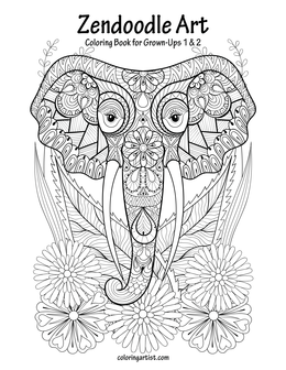 Zendoodle Art Coloring Book for Grown-Ups 1 & 2