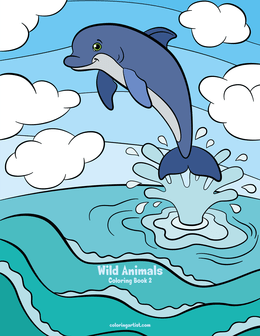 Wild Animals Coloring Book 2