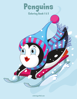 Penguins Coloring Book 1 & 2
