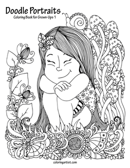 Doodle Portraits Coloring Book for Grown-Ups 1