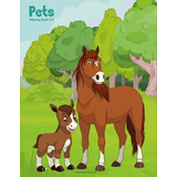 Pets Coloring Book 1 & 2