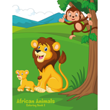 African Animals Coloring Book 2