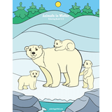 Animals in Winter Coloring Book 1 & 2