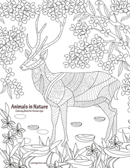 Animals in Nature Coloring Book for Grown-Ups 1