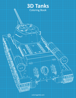 3D Tanks Coloring Book 1