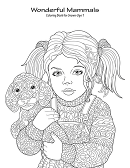 Wonderful Mammals Coloring Book for Grown-Ups 1