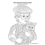Wonderful Mammals Coloring Book for Grown-Ups 2