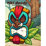 Tiki Heads Coloring Book for Kids 1